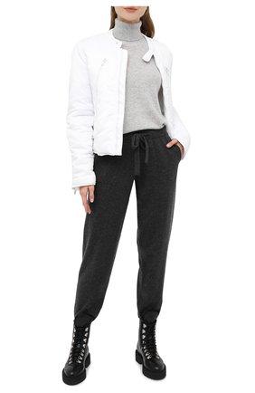 Женская кашемировый свитер ALLUDE серого цвета, арт. 205/11113 | Фото 2