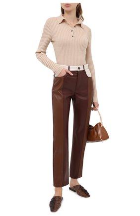 Женская кашемировый пуловер ALLUDE бежевого цвета, арт. 205/11133 | Фото 2