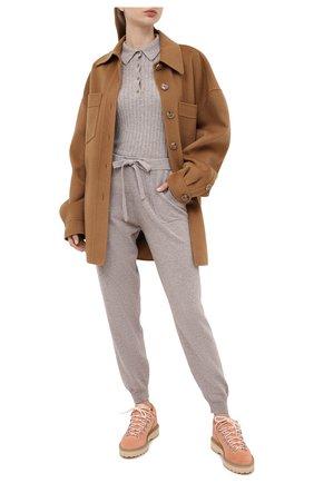 Женская кашемировый пуловер ALLUDE серого цвета, арт. 205/11133 | Фото 2