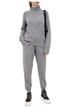 Женская кашемировый пуловер ALLUDE серого цвета, арт. 205/11181 | Фото 2