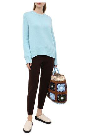 Женская кашемировый пуловер ALLUDE голубого цвета, арт. 205/11182 | Фото 2