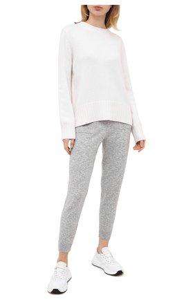 Женская кашемировый пуловер ALLUDE белого цвета, арт. 205/11182 | Фото 2