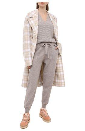 Женская кашемировый свитер ALLUDE серого цвета, арт. 205/11194 | Фото 2