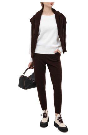 Женская кашемировый свитер ALLUDE белого цвета, арт. 205/11203 | Фото 2