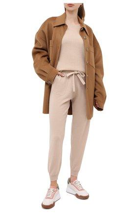 Женская кашемировый свитер ALLUDE бежевого цвета, арт. 205/11203 | Фото 2