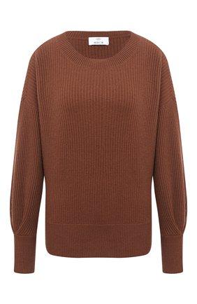 Женская кашемировый свитер ALLUDE коричневого цвета, арт. 205/11203 | Фото 1
