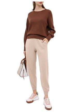 Женская кашемировый свитер ALLUDE коричневого цвета, арт. 205/11203 | Фото 2