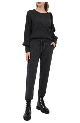 Женская кашемировый свитер ALLUDE темно-серого цвета, арт. 205/11203 | Фото 2