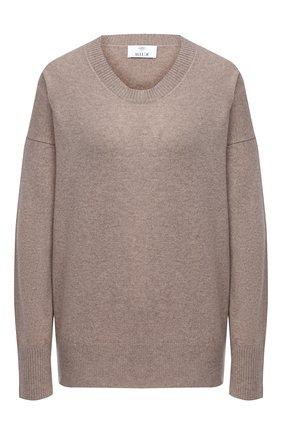 Женский кашемировый пуловер ALLUDE бежевого цвета, арт. 205/60004 | Фото 1