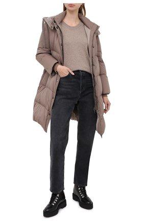 Женский кашемировый пуловер ALLUDE бежевого цвета, арт. 205/60004 | Фото 2