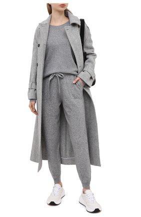 Женская кашемировый пуловер ALLUDE серого цвета, арт. 205/60004 | Фото 2