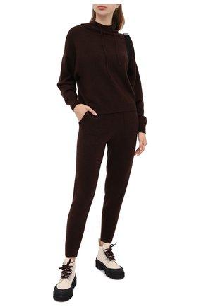 Женская худи ALLUDE темно-коричневого цвета, арт. 205/65025 | Фото 2