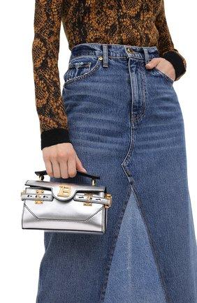 Женская сумка BALMAIN серебряного цвета, арт. UN1S525/LNFL | Фото 2