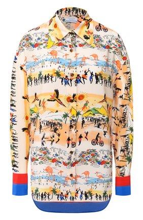 Женская шелковая блузка DEVEAUX NEW YORK разноцветного цвета, арт. W202-304-BC4 | Фото 1
