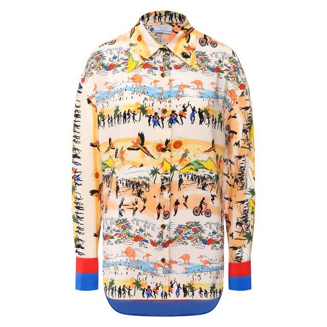 Шелковая блузка Deveaux New York