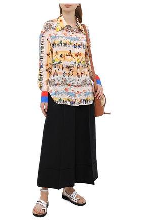 Женская шелковая блузка DEVEAUX NEW YORK разноцветного цвета, арт. W202-304-BC4 | Фото 2