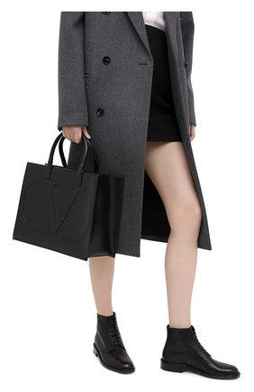 Женская сумка valentino garavani vlogo VALENTINO черного цвета, арт. UW2B0H22/QEL   Фото 2
