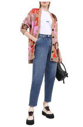 Женские джинсы MSGM синего цвета, арт. 2943MDP49L 207641   Фото 2