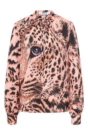 Женская блузка MSGM розового цвета, арт. 2943MDM12 207621 | Фото 1