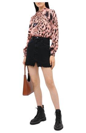 Женская блузка MSGM розового цвета, арт. 2943MDM12 207621 | Фото 2