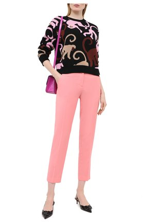 Женская хлопковый пуловер MSGM черного цвета, арт. 2943MDM114 207633 | Фото 2
