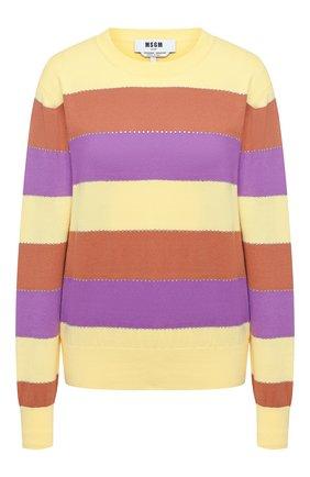 Женская хлопковый пуловер MSGM разноцветного цвета, арт. 2943MDM112 207635 | Фото 1