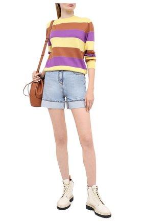 Женская хлопковый пуловер MSGM разноцветного цвета, арт. 2943MDM112 207635 | Фото 2