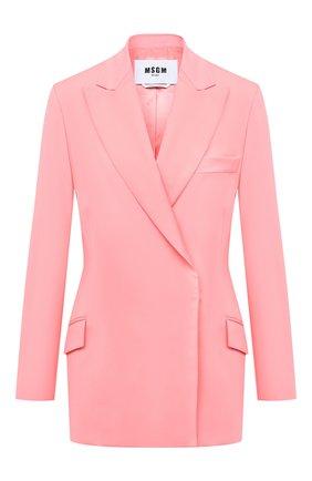 Женский шерстяной жакет MSGM розового цвета, арт. 2943MDG04 207601 | Фото 1