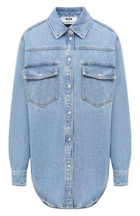 Женская джинсовая рубашка MSGM голубого цвета, арт. 2943MDE40L 207639 | Фото 1