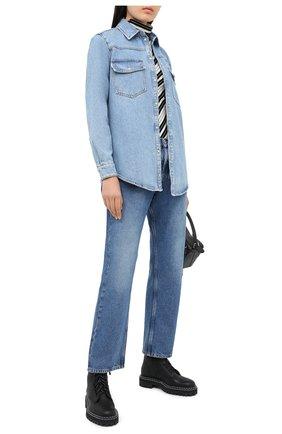 Женская джинсовая рубашка MSGM голубого цвета, арт. 2943MDE40L 207639 | Фото 2