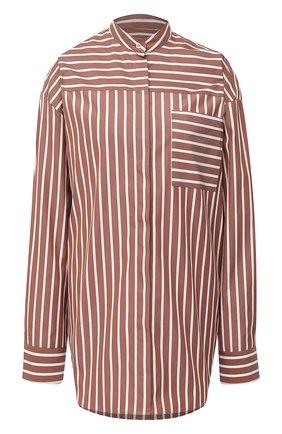Женская хлопковая рубашка MSGM коричневого цвета, арт. 2943MDE02 207602 | Фото 1