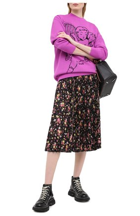 Женская юбка MSGM черного цвета, арт. 2943MDD16P 207625 | Фото 2