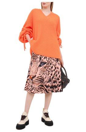 Женская юбка MSGM розового цвета, арт. 2943MDD13 207621 | Фото 2
