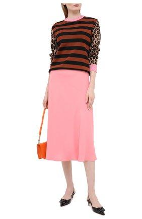Женская юбка MSGM розового цвета, арт. 2943MDD11 207600 | Фото 2