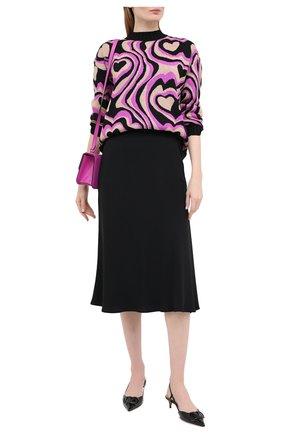 Женская юбка MSGM черного цвета, арт. 2943MDD11 207600 | Фото 2