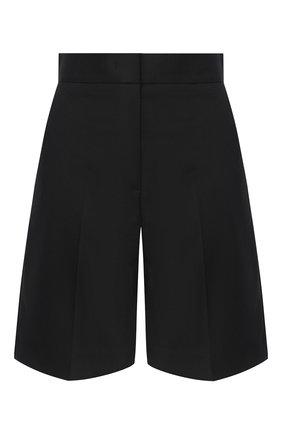 Женские шерстяные шорты MSGM черного цвета, арт. 2943MDB05 207601 | Фото 1