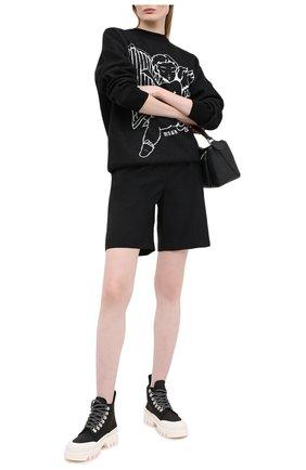 Женские шерстяные шорты MSGM черного цвета, арт. 2943MDB05 207601 | Фото 2