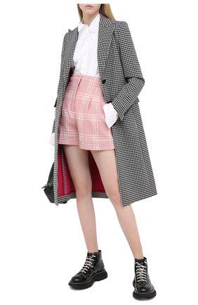Женские хлопковые шорты MSGM разноцветного цвета, арт. 2943MDB02X 207603 | Фото 2