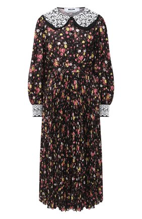Женское платье MSGM черного цвета, арт. 2943MDA32P 207625 | Фото 1