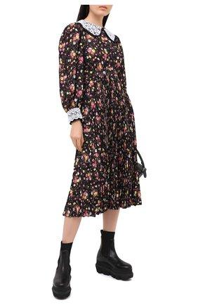 Женское платье MSGM черного цвета, арт. 2943MDA32P 207625 | Фото 2