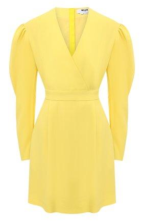 Женское платье MSGM желтого цвета, арт. 2943MDA05 207600 | Фото 1