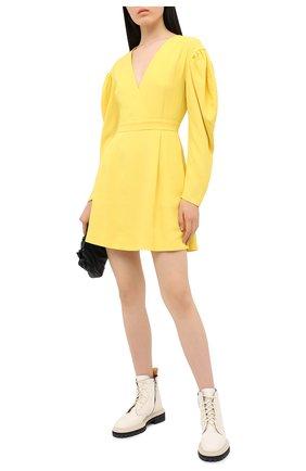 Женское платье MSGM желтого цвета, арт. 2943MDA05 207600 | Фото 2