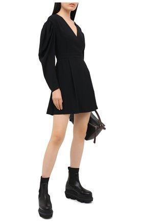 Женское платье MSGM черного цвета, арт. 2943MDA05 207600 | Фото 2