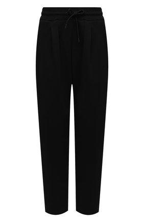 Женские хлопковые брюки MSGM черного цвета, арт. 2941MDP62 207799 | Фото 1