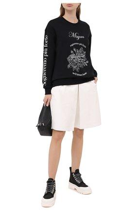 Женская хлопковый свитшот MSGM черного цвета, арт. 2941MDM99 207799 | Фото 2
