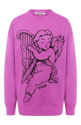 Женская пуловер MSGM фуксия цвета, арт. 2941MDM130 207774 | Фото 1