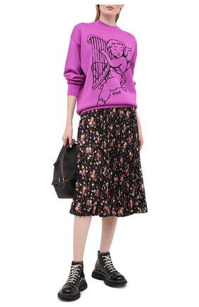Женская пуловер MSGM фуксия цвета, арт. 2941MDM130 207774 | Фото 2