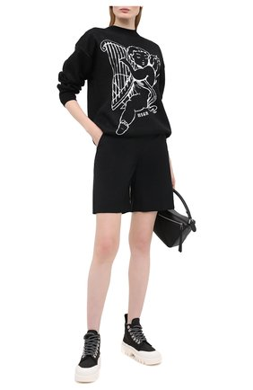 Женская пуловер MSGM черного цвета, арт. 2941MDM130 207774 | Фото 2