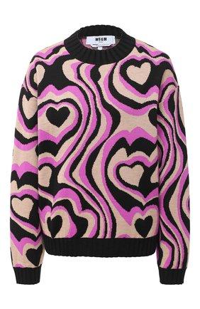 Женская пуловер MSGM разноцветного цвета, арт. 2941MDM126 207775 | Фото 1