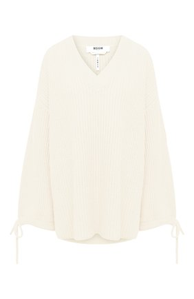 Женская пуловер MSGM белого цвета, арт. 2941MDM118 207793 | Фото 1